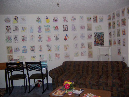 This Wall Was What We Created In Our Times Of Boredom. It Made Our Apartment  The Most Decorative And The Most Disney Influenced Apartment In Vista Way!